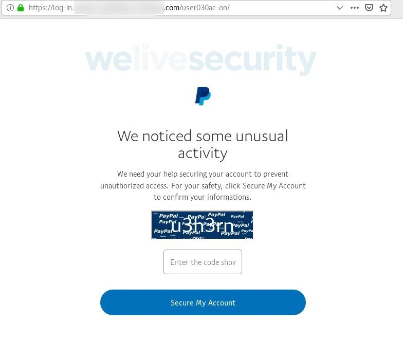 PayPal Phishing Scam