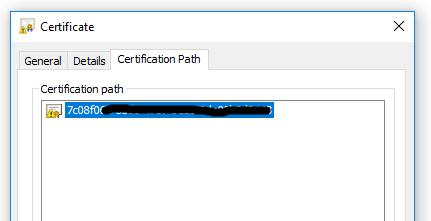 SSL Certificate intermediates
