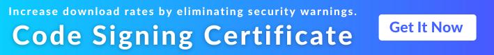 EV Code Signing Certificate