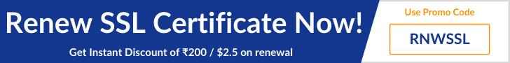 Renew your SSL Certificate Now
